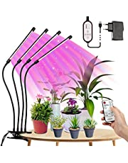 Tasmor lampa LED do uprawy roślin, pełne spektrum 80 W, możliwość ściemniania, 80 diod LED, lampa do wzrostu roślin pokojowych z timerem LED, lampa do uprawy roślin, czerwona, niebieska, ciepła biel IP44 LED światło do ogrodu