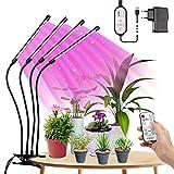 LED Pflanzenlampe Vollspektrum 80W, Tasmor Dimmbar Grow Light 80LEDs, Wachstumslampe für Zimmerpflanzen mit Timing LED Grow Lampe Pflanzenleuchte, Rot, Blau, Warmweiß IP44 LED Pflanzenlicht für Garten