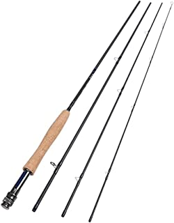 Lightweight Portable Graphite Fly Fishing Rod 2.7M Made of 30-Ton Carbon Fiber Blanks 5Wt/6Wt/7Wt/8Wt