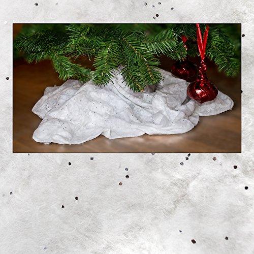 Kunstschneedecke zur weihnachtlichen Dekoration, Maße: ca. 90 x 240 cm, Kunstschnee, Kunstschneedecke, Tischband, Tischläufer …