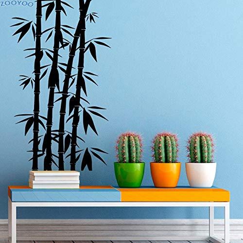 JXCDNB Natur Bambus Stiel Wandaufkleber Chinesische Wohnkultur entfernbare Wohnzimmer Wandaufkleber Schlafzimmer Wandkunst Wanddekoration145.5x87cm