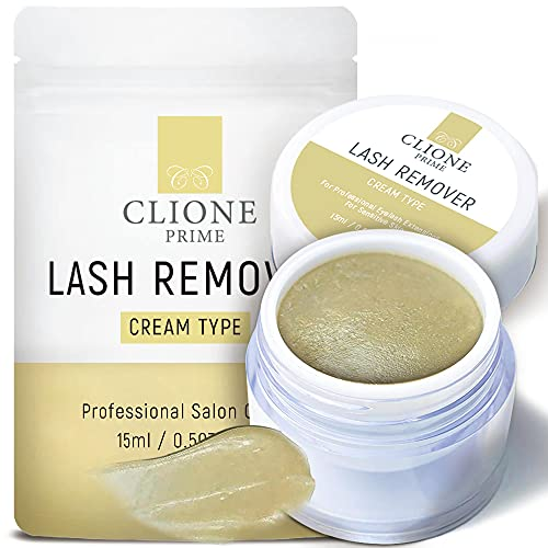 Clione Prime Eyelash Extension Remover Cream - 15gm, No Eyelids Burning/Irritation, Formaldehyde-Free, Unscented