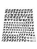 4R Quattroerre.it - 1231 - Kit Lettere Adesive Componibili, Nero