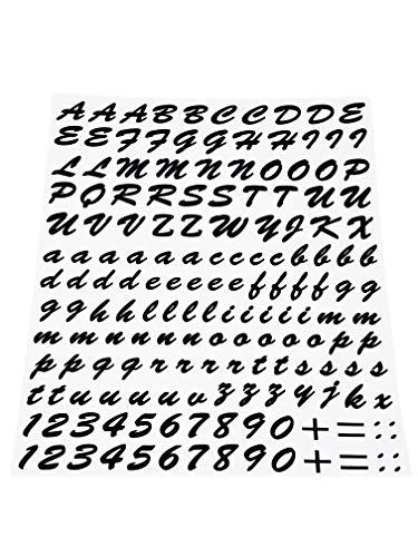 4R Quattroerre.it 1231 Kit Letras Adhesivas Componibles, Negro, 20 x 24 cm