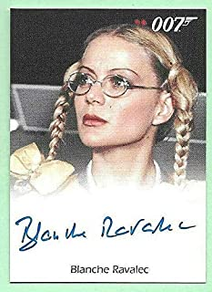 2010 James Bond Heroes & Villains Blanche Ravalec as Dolly On Card Autograph