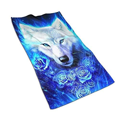 Bath Towels Pinterest Blue Ice Ice Wolf Wallpaper Hochsaugfähiges Badezimmer Dekor Bad Handtuch Pool Gemütlicher Pool Fast-Dry 80X130Cm Ultra Soft Unisex Personalisiert