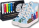 mY DESIGN DIY Painting Shoes for Kids with 6 Matching Painting Colors - Made in USA (10.5-11.5)