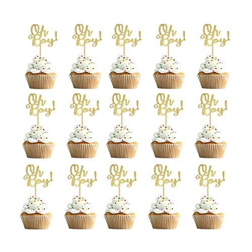Bless 30 Stück Oh Baby Shower Cake Toppers, Glitter Oh Baby Cupcake Topper liefern Dekore, für Hochzeit, Geburtstag, Baby Shower, Kids Party Dekorationen