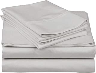 """4 PC Bedding Sheet Set 10-15"""" Deep Pocket 400 TC 100% Cotton -Designed for Your Bedrooms, Easy to fit in Any Mattress -Sof..."""