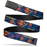 Buckle-Down uni-sex adult's Web Belt-Superman-1.5' Wide-Fits up to 42' Pant Size, Multicolor