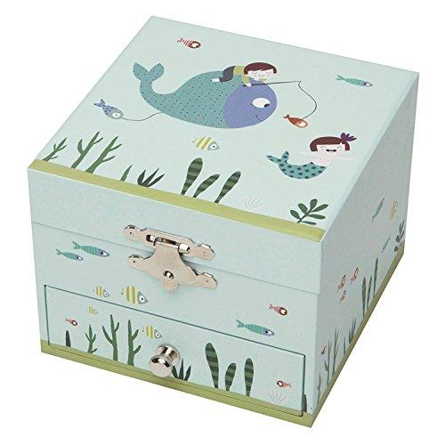 Trousselier - Meerjungfrau - Musikschmuckdose - Spieluhr - Ideale Geschenk für junge Mädchen - Musik Wiegenlied von Schubert - Farbe grün