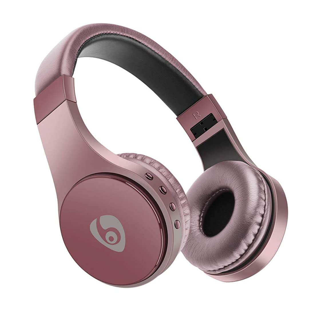 Wireless Bluetooth Headphone, AnnBay Foldable Over-The-Ear Head Wear Music Deep Bass Stereo Bluetooth 4.1 Headset for Cell Phone/Computer (Rose Gold)