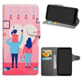 HHDY Wiko Harry 2 Leder hülle, Painted Muster Wallet Handyhülle mit Kartenfächer/Standfunktion Hülle Cover für Wiko Harry 2,Family