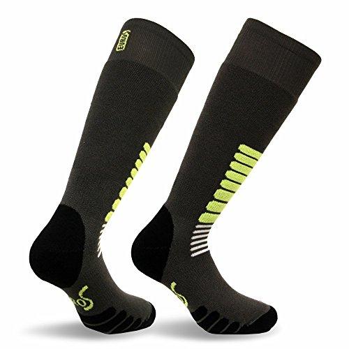 Eurosocks Micro-Supreme Over The Calf Ski Zone Socks,Dark Grey,Small