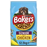 Bakers Senior Dry Dog Food Chicken and Veg 12.5kg