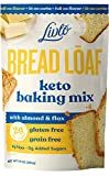 Livlo Keto Bread Mix - Low Carb & Gluten Free Baking Mix with Zero Added Sugar - Only 2g Net Carbs - Fast, Easy and Delicious Keto Friendly Food - Non-GMO & Grain Free - 12 Servings