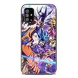 FUTURECASE Anime Dragon Ball Z Cartoon Tempered Glass Case for Samsung Galaxy S20 S21 Plus Ultra FE A51 A71 4G 5G Note 20 Ultra Instinct (8, Samsung S21 Ultra)