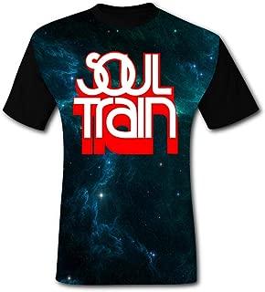 Gujigur Mens T Shirt Fashion Soul Train Red Logo Summer Casual Short Sleeve Tee Creative 3D Printed Hipster Design