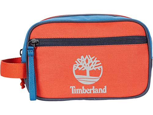 Timberland Waxed Canvas Multicolor Travel Kit Orange One Size