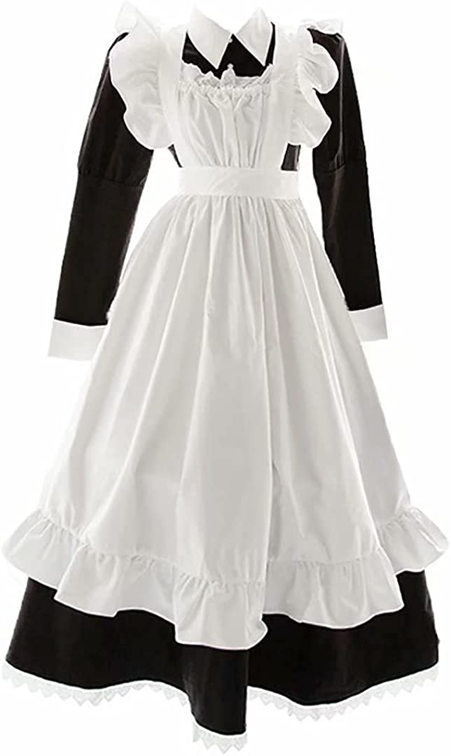 Japanese Maid Outfit French Apron Costu Dress NEW before selling Cosplay Fancy Max 55% OFF