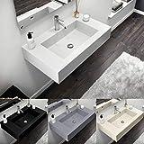 Lavabo de resina y gelcoat lavabo 80 cm blanco beige gris claro antracita...