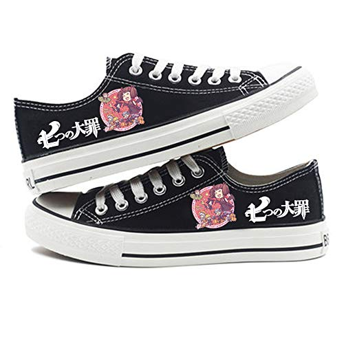 XYUANG The Seven Deadly Sins Anime Shoes Manga Cosplay Chaussures de Toile Baskets Fitness Athletic Sneakers pour Femmes Hommes A-36