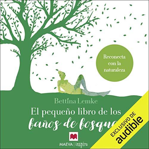 Diseño de la portada del título El pequeño libro de los baños de bosque