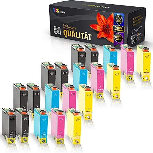20x Alternative Tintenpatronen für Epson Stylus SX 430 W Stylus SX 435 W Stylus SX438 W Stylus SX 440 Series T1291 T1292 T1293 T1294 Premium Smart Serie
