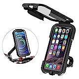 Soporte Movil Bicicleta, Soporte Movil Moto, Impermeable Universal Pantalla Táctil Sensible 360°Rotación Anti Vibración Bicicleta Soportes para 5.5-6.8' Smartphones