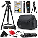 "Premium Well Padded Camera CASE/BAG + 60"" TRIPOD Accessories Bundle KIT for FUJIFILM Finepix XP80 XP70 X 100T X100S X100 XT10 XT1 XA2 XA1 XQ2 XQ1 XE2 XE1 XPro1 Fujifilm FINEPIX S9900W S9800 S9400W"