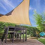 HAIKUS Tenda a Vela Triangolare 5x5x7,1 m, HDPE Traspirante, Vela Ombreggiante...