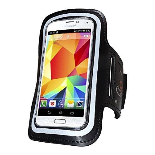 Samsung Galaxy S6 & Galaxy S5 Compatible Running Armband with an Adjustable Band and Key Holder for Men & Women