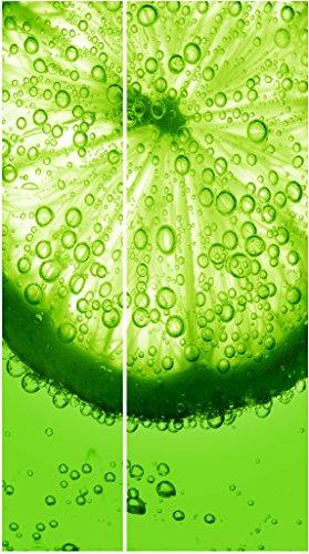 Sticker Frigo Americain Cuisine 100x180cm SAFRA0005 Citron vert