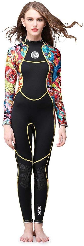 SANANG 3mm Damen Ganzkörper Neoprenanzug Einteiliger Lange Ärmel Taucheranzug Tauchen für Schnorcheln Schwimmen Wassersport B07P82Q75C  Qualität