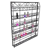 Corgy Professional 6-Tier Wall Mounted Nail Polish Rack Organizer Wire Metal Display Rack(US STOCK)