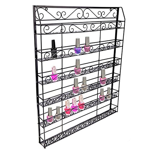 Corgy 6-Tier Wall Mounted Nail Polish Rack