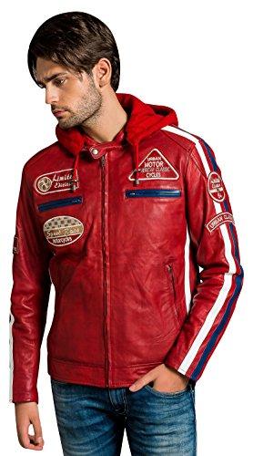 Urban Leather Men, Giacca 58 da Uomo Unisex Adulto, Rosso, 2XL