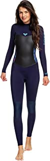Roxy Womens 4/3Mm Syncro Series - Back Zip GBS Wetsuit - Women - 14 - Blue Blue Ribbon/Coral Flame 14