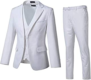 High-End Suits 3 Pieces Men Suit Set Slim Fit Groomsmen/Prom Suit for Men Two Buttons Business Casual Suit