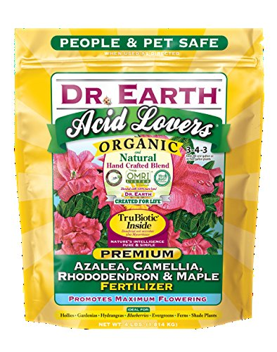 Dr. Earth 703P Organic 4 Azalea/Camellia/Rhododendron Acid Fertilizer in Poly Bag, 4-Pound (Limited Edition)