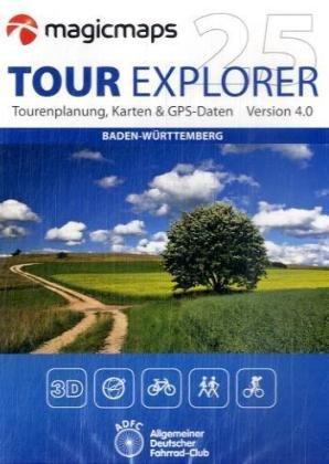 Baden-Württemberg, 2 DVD-ROMs 3D-Kartenwerk & Tourenplaner Version 3.0. Touren planen und analysieren, Strecken in 3D abfliegen, Direkte GPS-Schnittstelle, Rad- und Wandertouren, Anzeige von Straßennamen und Sehenswürdigkeiten. Für W
