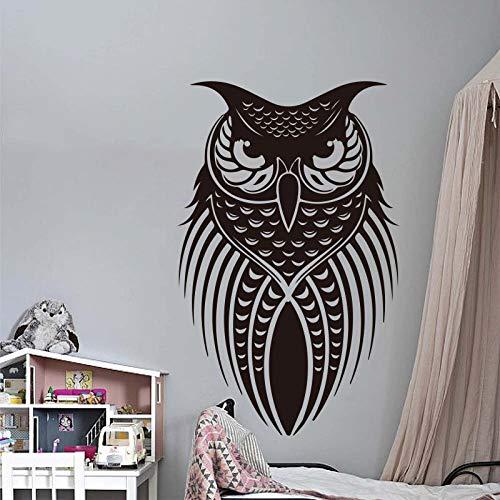 hetingyue Cartoon Eule Vogel Tier Wandaufkleber Wohnzimmer Schlafzimmer Eule Haustier Kinder Wanddekor Dekorieren Vinyl 56x35 cm