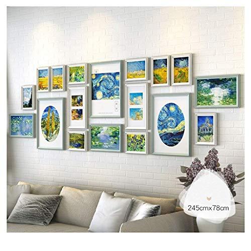 WANGJUNXIU fotowanddecoratie gratis stansen fotolijst woonkamer wand fotolijst creatieve kunst combinatie fotowand, 245 * 78 cm