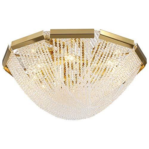 Lámpara de sala de estar minimalista moderna habitación de vestíbulo del hotel salón de belleza lámpara de cuentas de cristal de arte lámpara de techo led redonda D500 * H210 (mm) Yang1mn