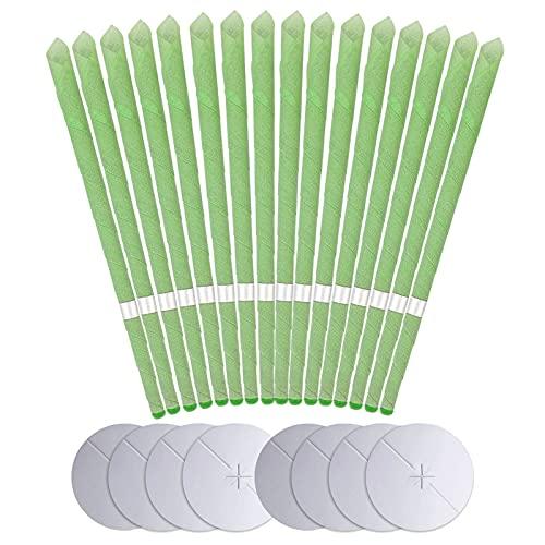 Aucenix Ohrenkerzen zur Reinigung 16 Stück, Hopi Natürlich Bienenwachs Ohrkerzen, Ohrkerze Ohrenschmalz Entferner Kerzen für Entspannen Ear Candle mit Schutzscheibe