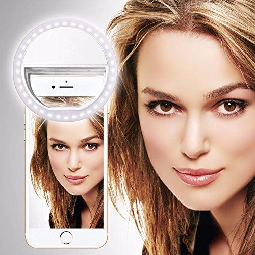 i-Tronixs ALLVIEW V2 Viper XE (Weiß) Clip auf Selfie Ringlicht, mit 36 LED für Smartphone Camera R&e Form