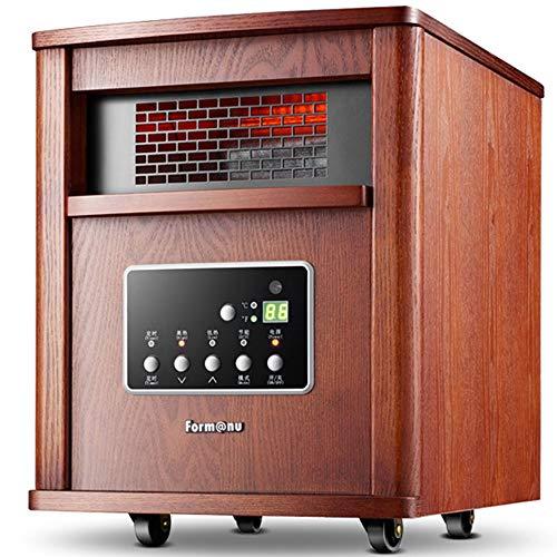 WJL draagbare elektrische verwarming 1500 Watt met digitale thermostaat, afstandsbediening, timer en filter