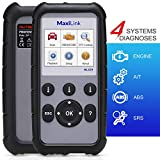 Autel MaxiLink ML629, OBD2 Scanner with 4 System Diagnosis for SRS ABS Transmission Engine, Upgraded Version of ML619/AL629 with 10 OBD2 Functions & DTC Lookup