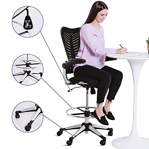 Modway Charge Drafting Chair - Reception Desk Chair