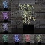 Love parrot lámpara de mesa pequeña creativa lámpara de mesa LED lámpara visual 3D lámpara de mesa multicolor de acrílico decoración de interiores lámpara de mesa regalo de amante